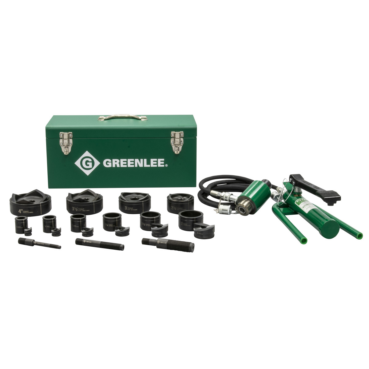 "Greenlee 7610SB Slug-Buster Hydraulc Driver Kit, for 1/2"" - 2"" Conduit"