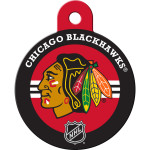 Chicago Blackhawks Large Circle ID Spot Tag