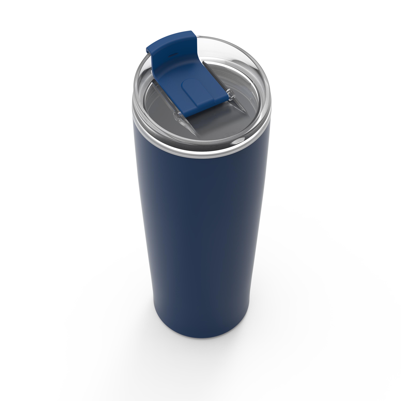 Aberdeen 24 ounce Vacuum Insulated Stainless Steel Tumbler, Indigo slideshow image 2