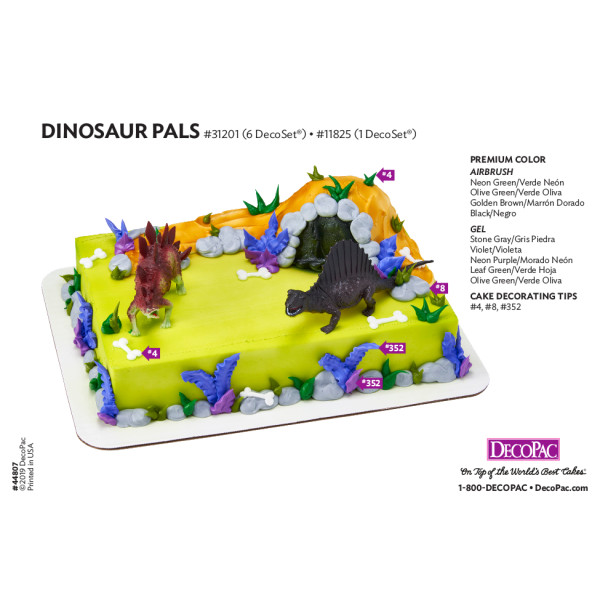 Dinosaur Pals Cake Decorating Instruction Card Decopac