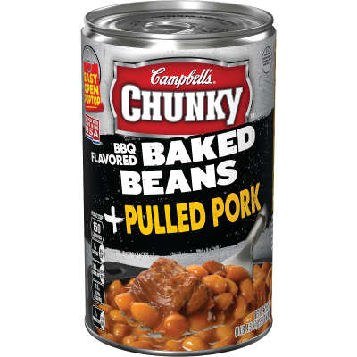 BBQ Flavored Baked Beans & Pulled Pork