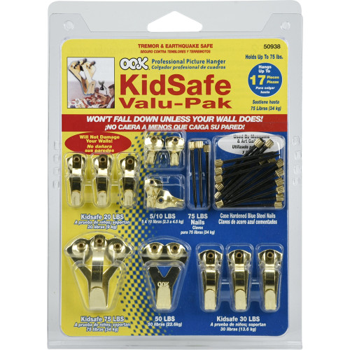 OOK Kid Safe Hanger Valu-Pak Kit 10lbs-75lbs