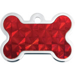 Red Holo Insert Large Bone Quick-Tag