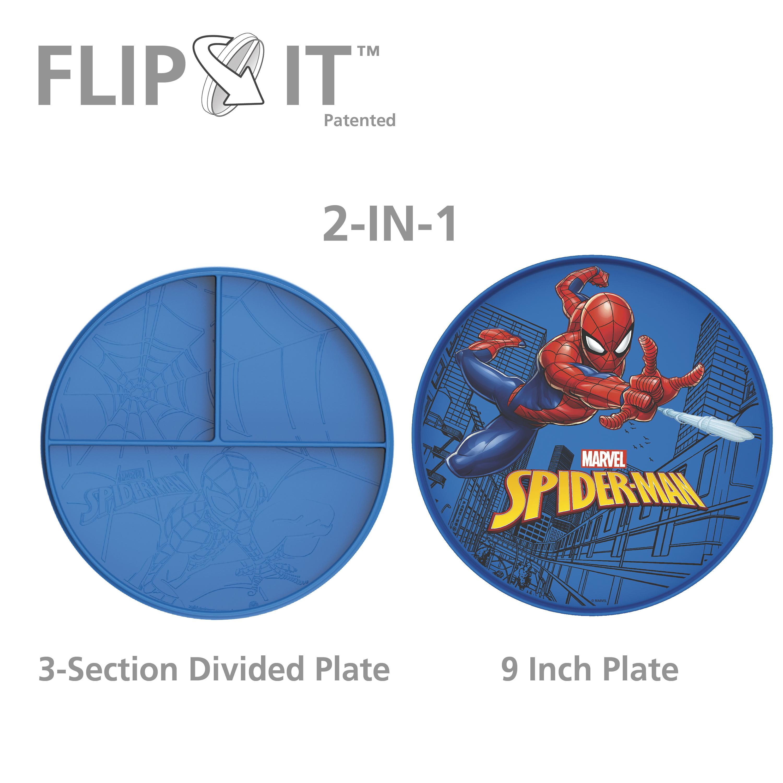 Marvel Comics Kids Dinnerware, Spider-Man, 2-piece set slideshow image 6