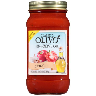 Classico Olivo Roasted Garlic Pasta Sauce 24 oz Jar