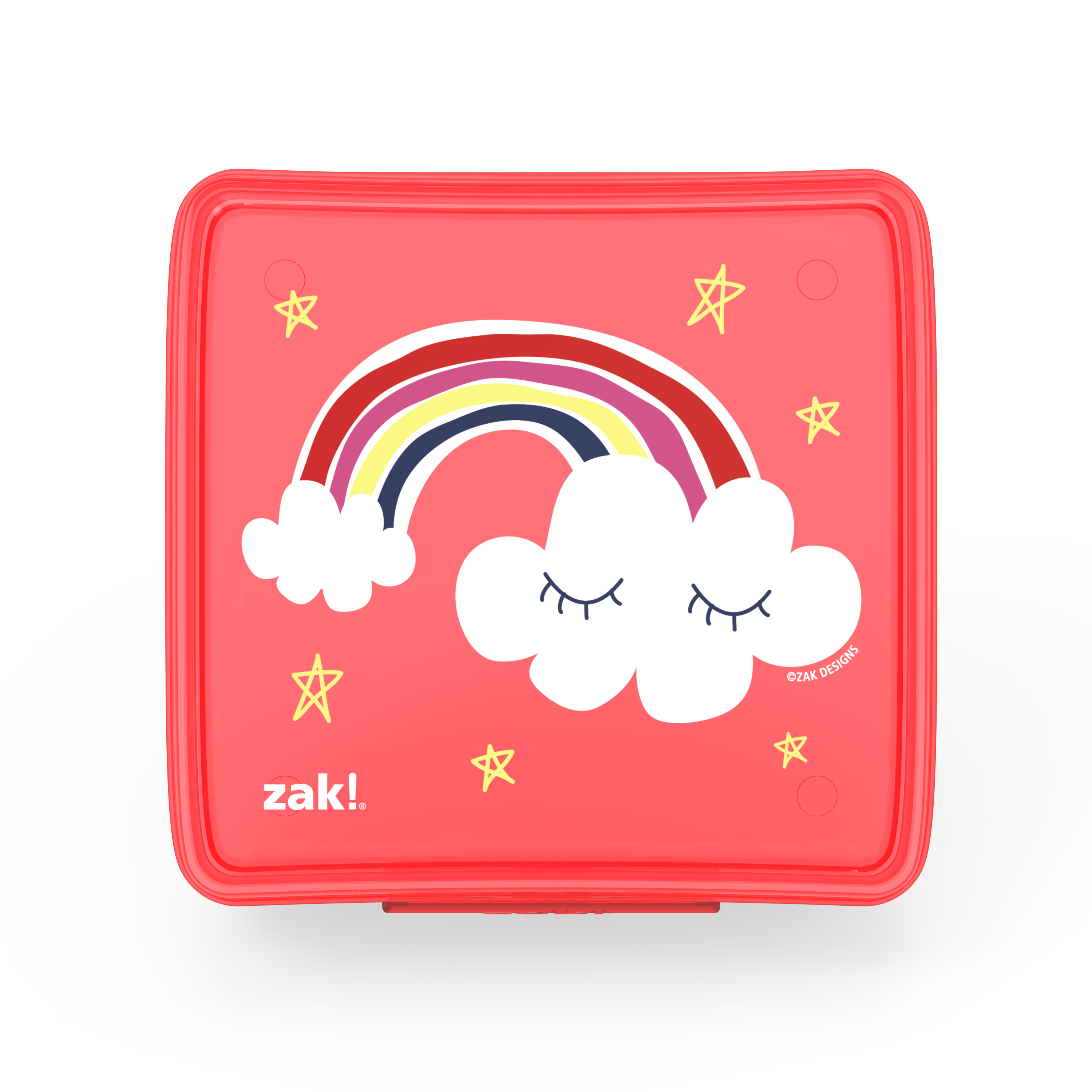 Happy Things Reusable Hinged Food Container, Clouds slideshow image 1