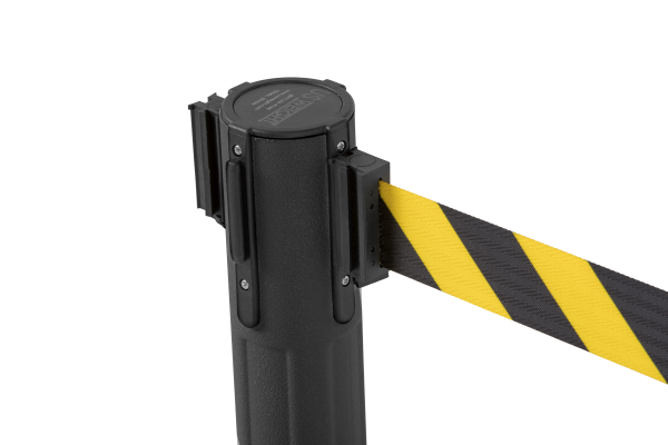 Sentry QS Stanchion - Black with Chevron Belt 9