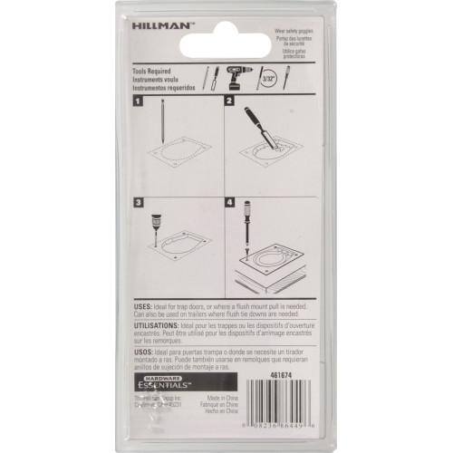 Hardware Essentials Floor Trap and Chest Handle Zinc 3-1/2