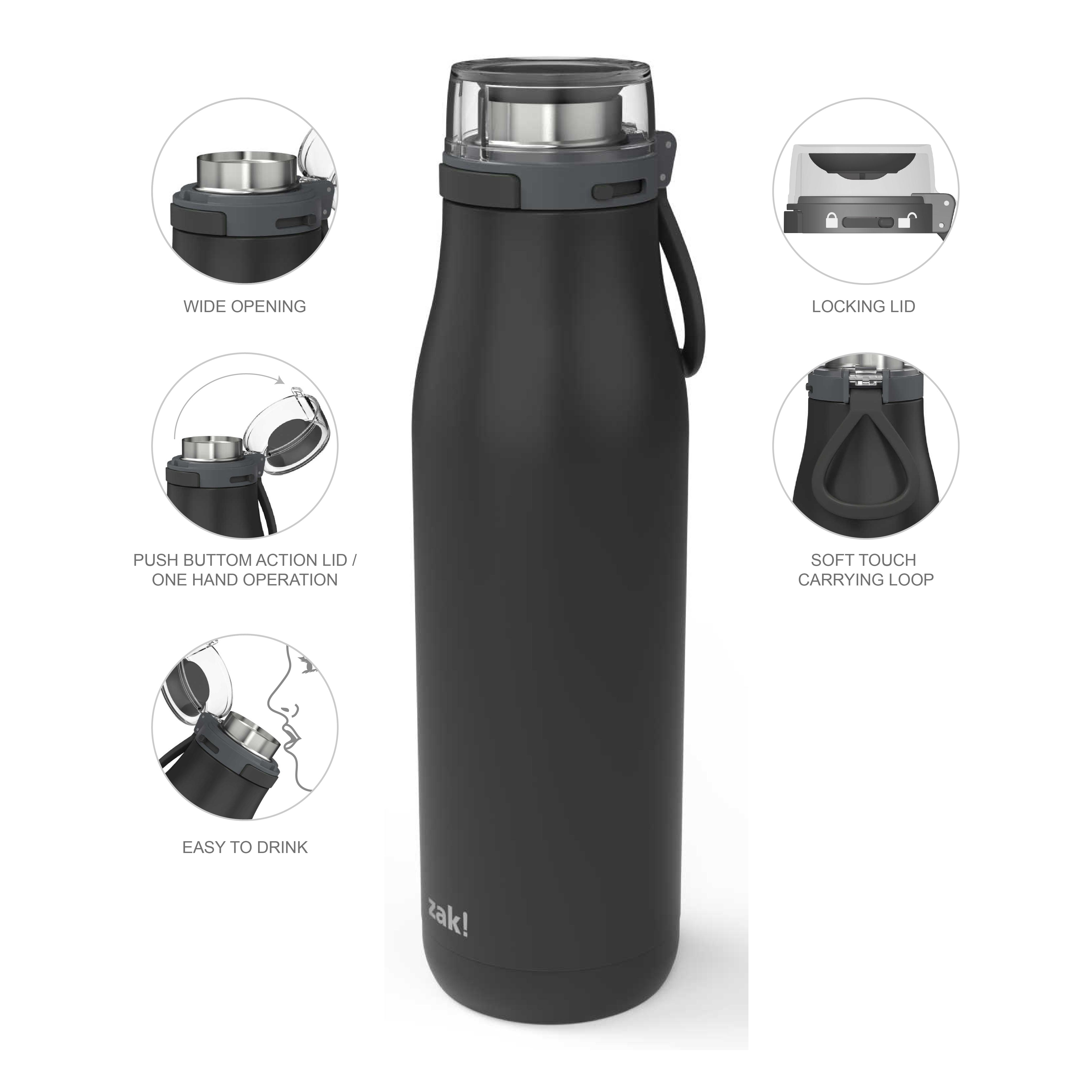 Kiona 29 ounce Vacuum Insulated Stainless Steel Tumbler, Charcoal slideshow image 8