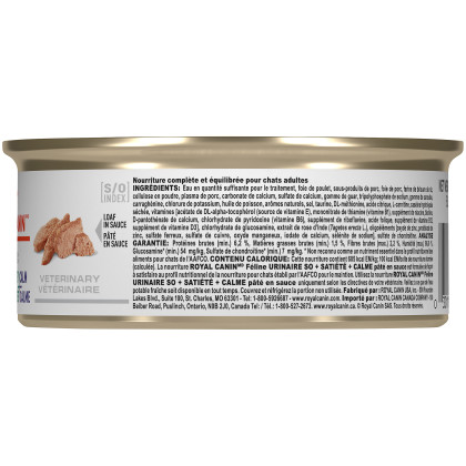 Royal Canin Veterinary Diet Feline Urinary SO + Satiety + Calm Canned Cat Food