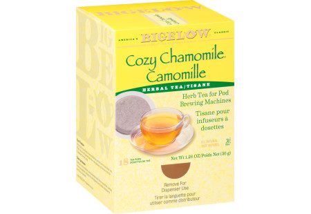 Cozy Chamomile Herbal Tea Pod - Case of 6 boxes- total of 108 teabags