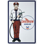 "Chevron Gas Attendant Novelty Sign (12"" x 18"")"