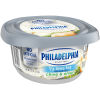 Philadelphia Chive and Onion 1/3 Less Fat Cream Cheese Spread 7.5 oz Tub