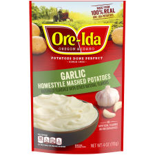 Ore-Ida Garlic Homestyle Mashed Potatoes, 4 oz Pouch