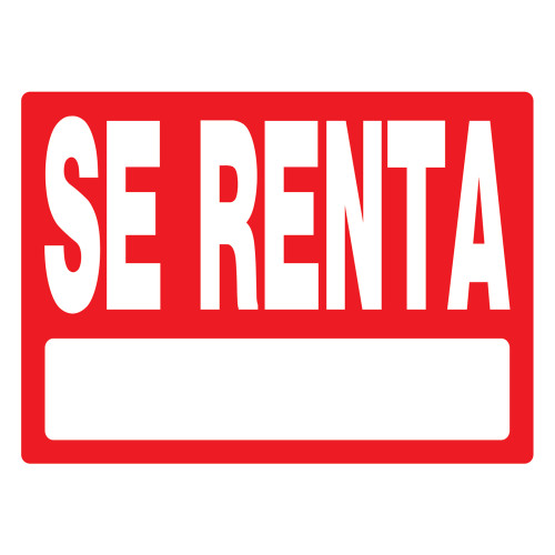 Spanish For Rent Sign, 18