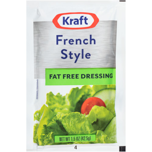 KRAFT Single Serve Fat-Free French Salad Dressing, 1.5 oz. Packets (Pack of 60)