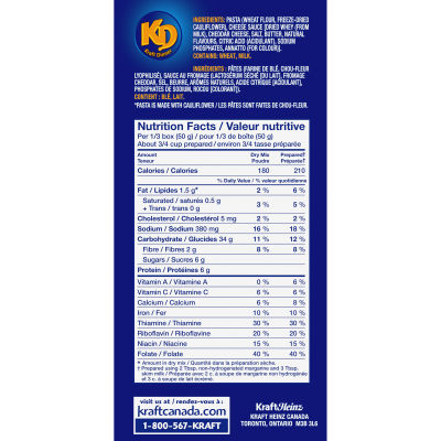 KRAFT DINNER Original Macaroni & Cheese,