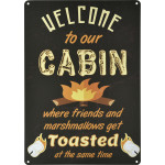 """Welcome to Our Cabin Novelty Sign (10"""" x 14"""")"""