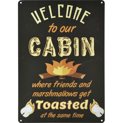 Aluminum Welcome to Our Cabin Sign, 10