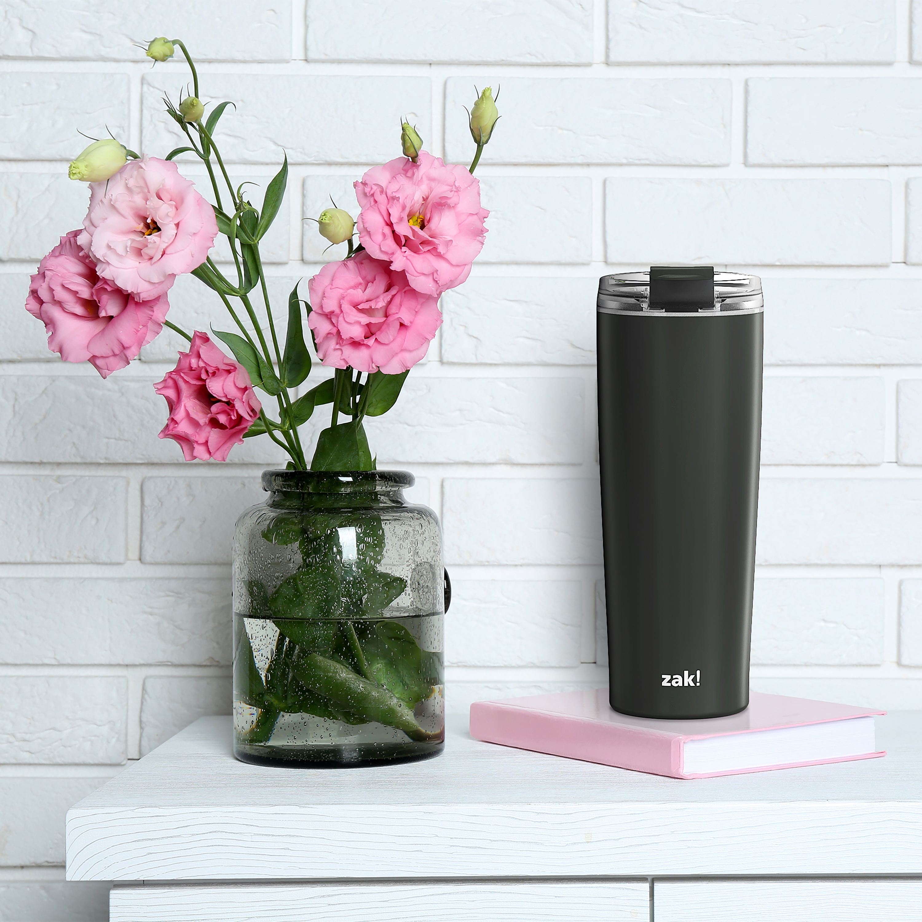 Aberdeen 24 ounce Vacuum Insulated Stainless Steel Tumbler, Charcoal slideshow image 7