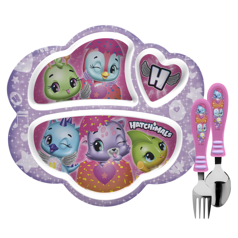 Hatchimals Kid's Dinnerware Set, Colleggtibles, 3-piece set slideshow image 1