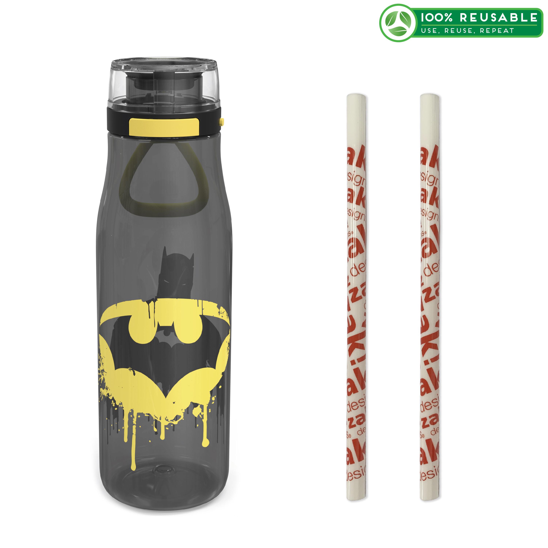 DC Comics 25 ounce Water Bottle, Batman, 3-piece set slideshow image 1