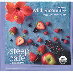 steep Café Organic Wild Encounter Herbal Tea - Box of 50 pyramid tea bags