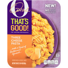 O That's Good! Three Cheese Pasta 20 oz Tray