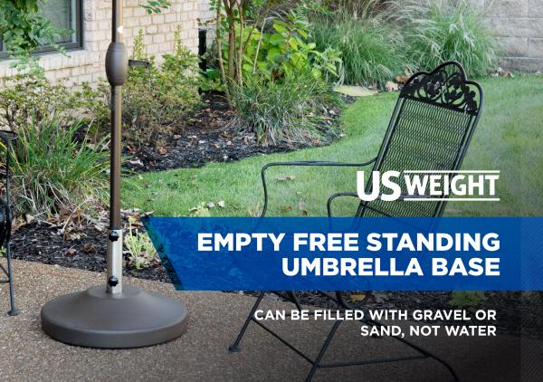 Fillable Free Standing Umbrella Base - Bronze 2