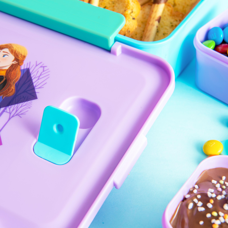 Disney Frozen 2 Movie Reusable Divided Bento Box, Elsa and Anna, 3-piece set slideshow image 7