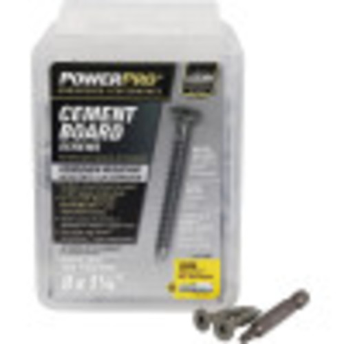 Power Pro Gray Ceramic Wafer-Head Cement Board Screw (#9 x 1-1/4