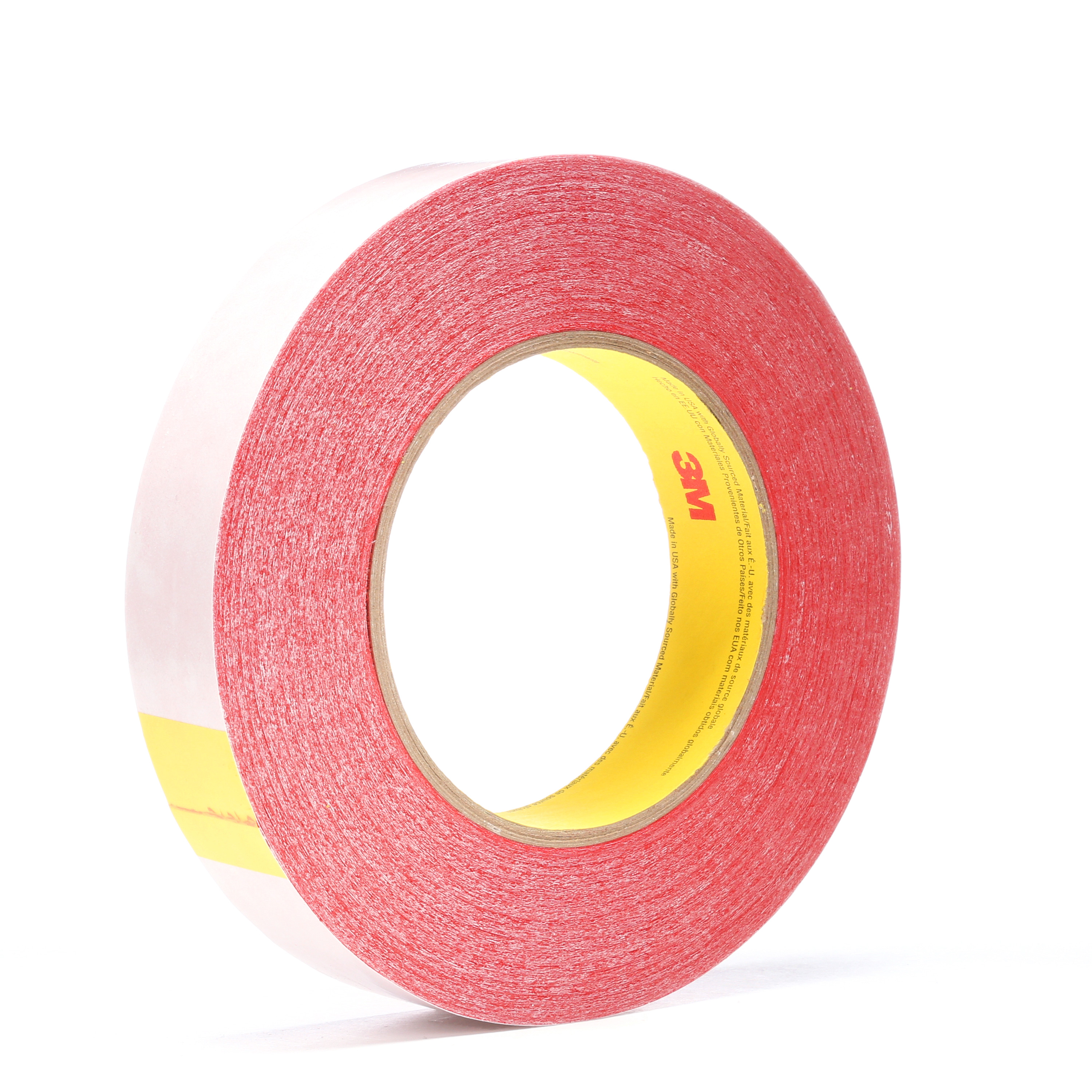 3M™ Double Coated Tape 9737R, Red, 24 mm x 55 m, 3.5 mil, 48 rolls per case