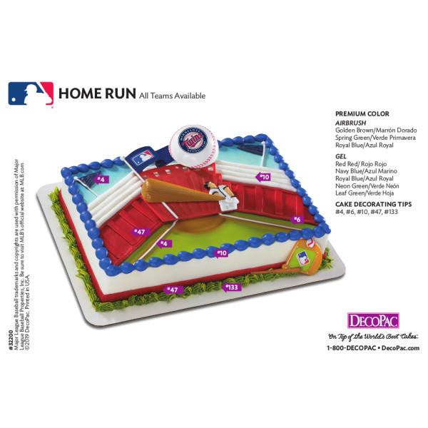 MLB® Home Run Cake Decorating Instruction Card