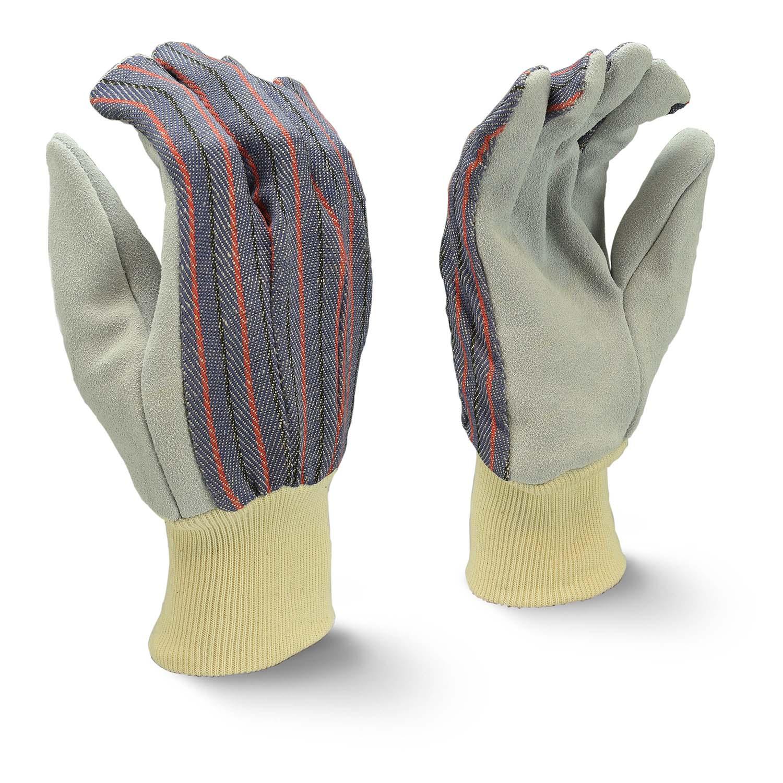 Radians RWG3010 Economy Shoulder Gray Split Cowhide Leather Glove