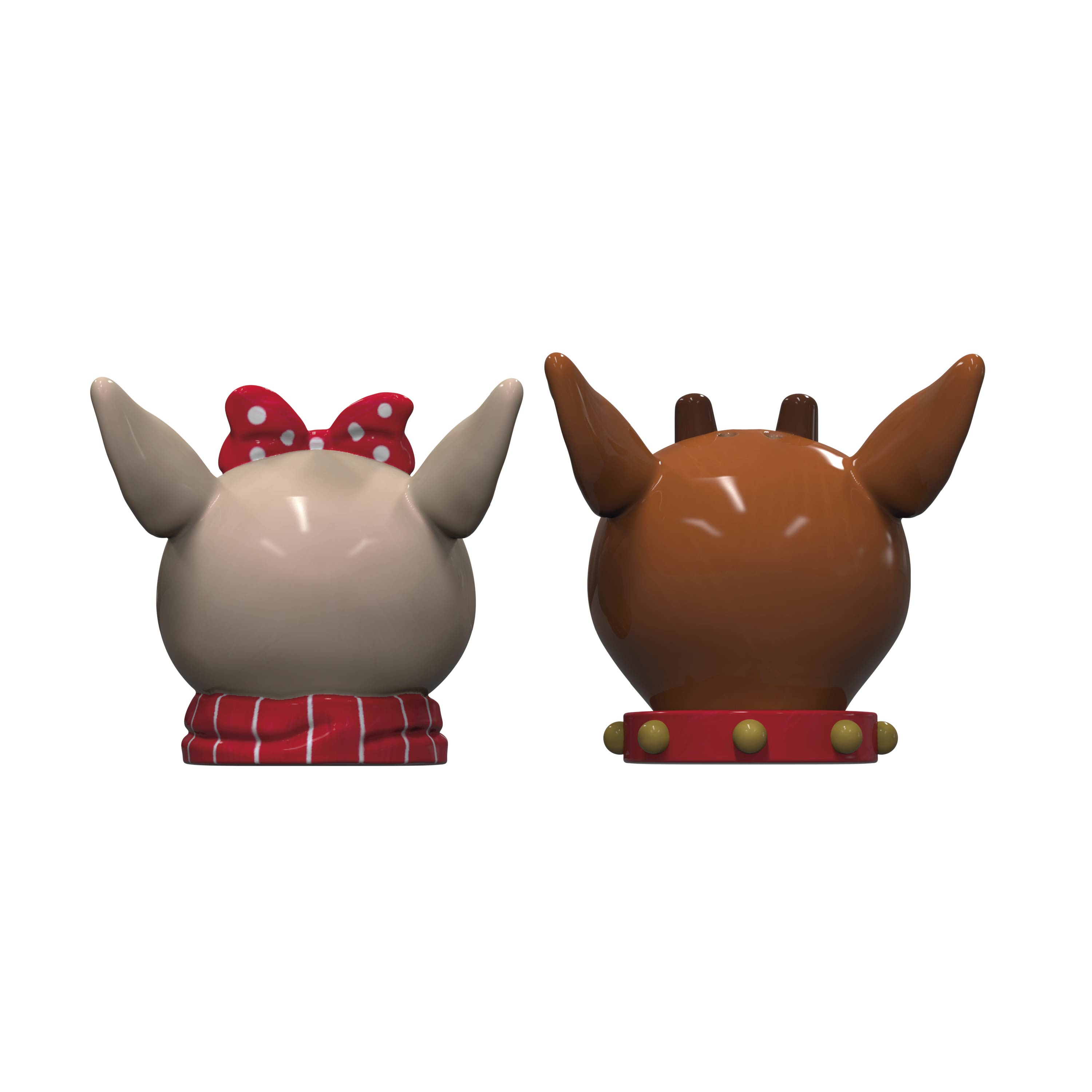 Rudolph the Red-Nosed Reindeer Salt and Pepper Shaker Set, Rudolph & Clarice, 2-piece set slideshow image 5