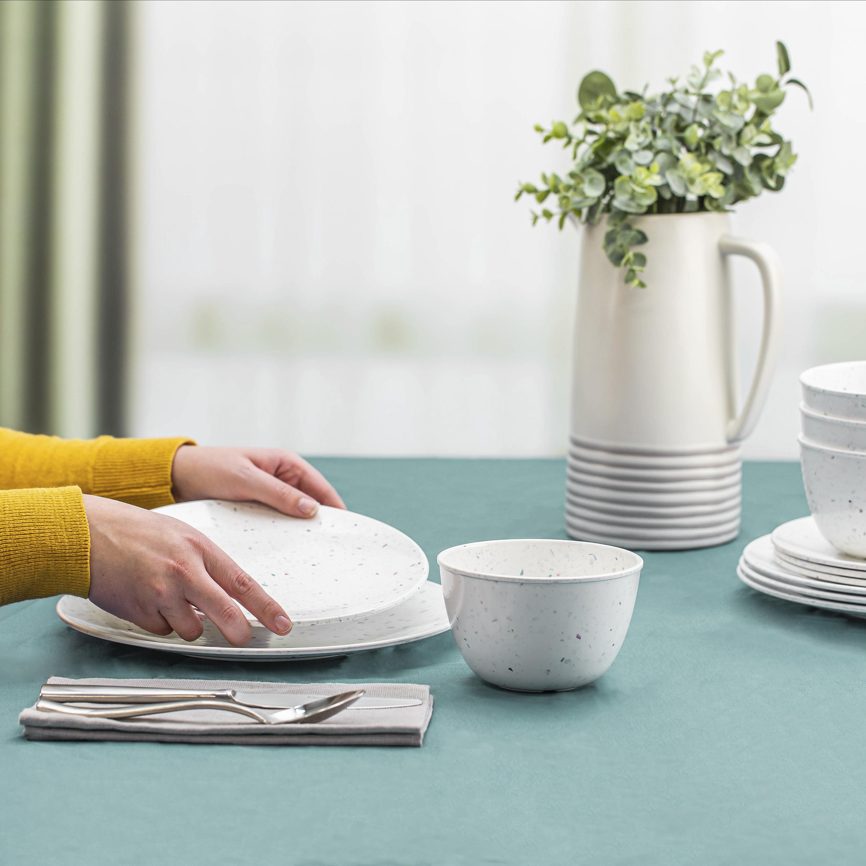 Confetti Dinnerware Set, White, 12-piece set slideshow image 5