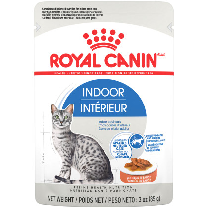 Royal Canin Feline Health Nutrition Indoor Adult Morsels in Sauce Pouch Cat Food