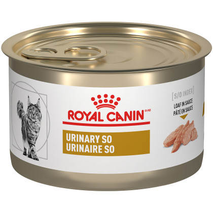Royal Canin Veterinary Diet Feline Urinary SO Loaf in Sauce Canned Cat Food