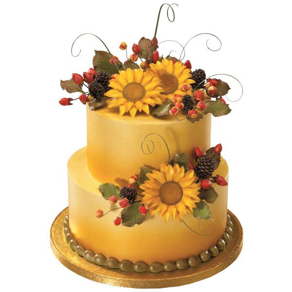 Star Wars Wedding Cake With Sunflowers: Gum Paste Flowers