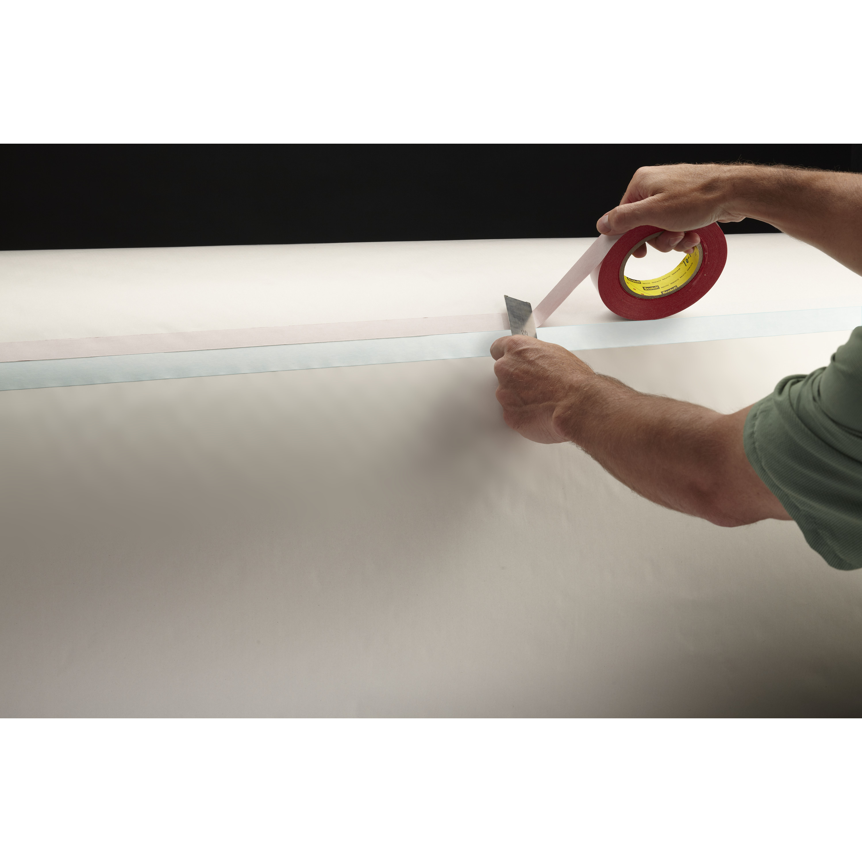 3M™ Double Coated Tape 9738, Clear, 54 in x 60 yd, 4.3 mil, 1 roll per case