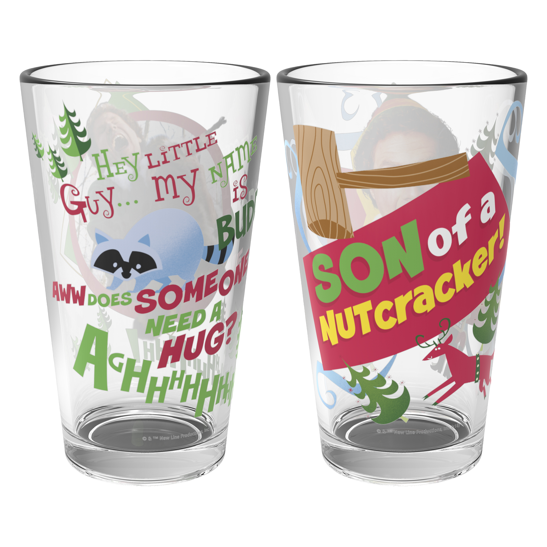 Christmas Glassware 16 ounce Pint Glasses, Elf, 2-piece set slideshow image 5