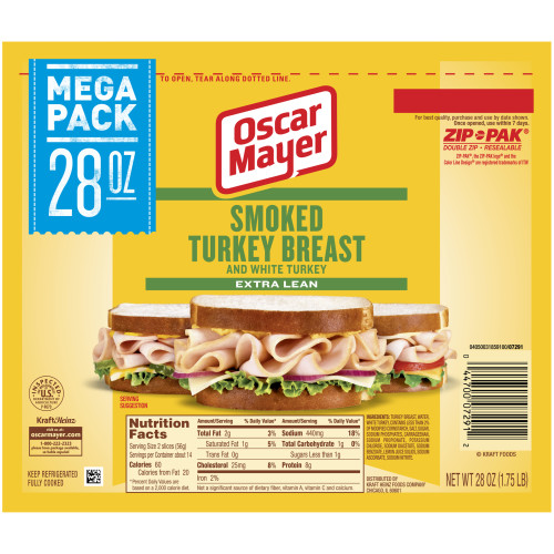 Oscar Mayer Smoked Turkey Breast 28 oz