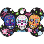 Day of the Dead Multicolored Large Bone Quick-Tag
