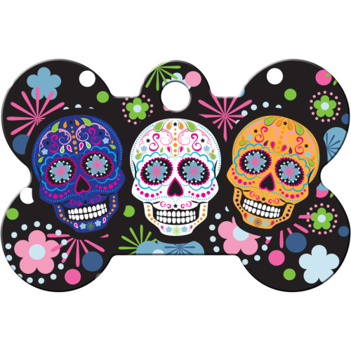 Day of the Dead Multicolored Large Bone Quick-Tag 25 Pack