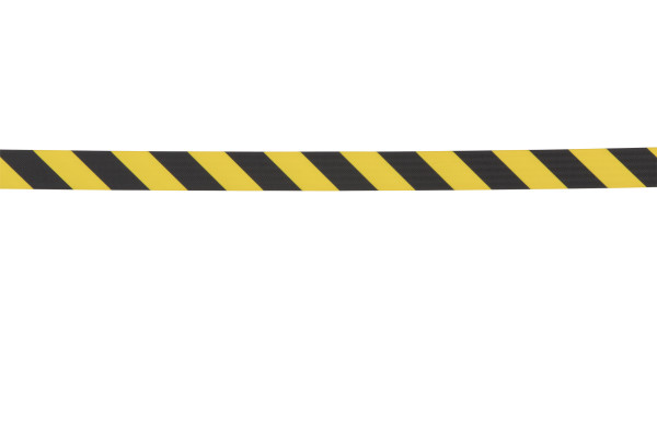 Sentry Stanchion - Yellow with Chevron belt 2