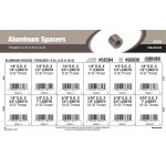 Threaded Aluminum Spacers Assortment (6-32, 8-32 & 10-32)
