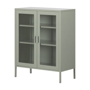 Crea - Metal Mesh 2-Door Accent Cabinet