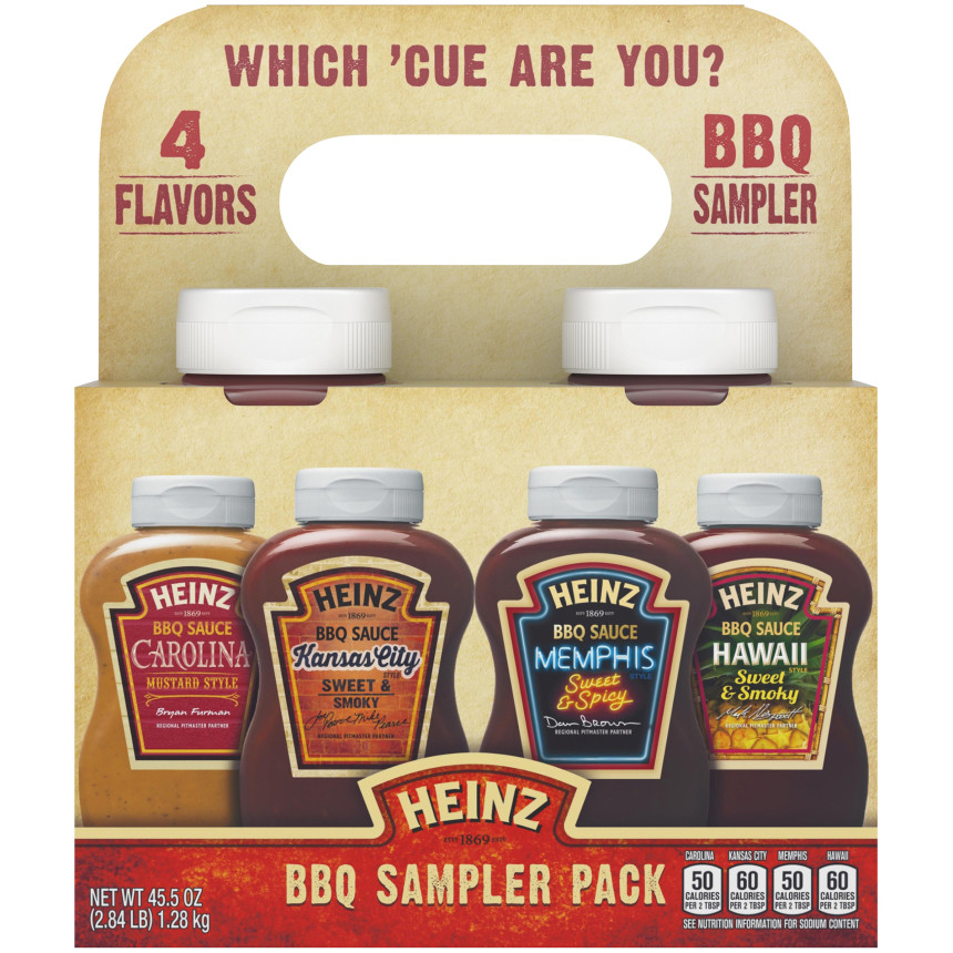 Heinz BBQ Sampler Pack, 45.5 oz Sleeve image
