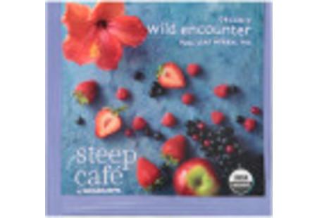 steep Café Organic Wild Encounter Herbal Tea - Box of 50 pyramid tea bags
