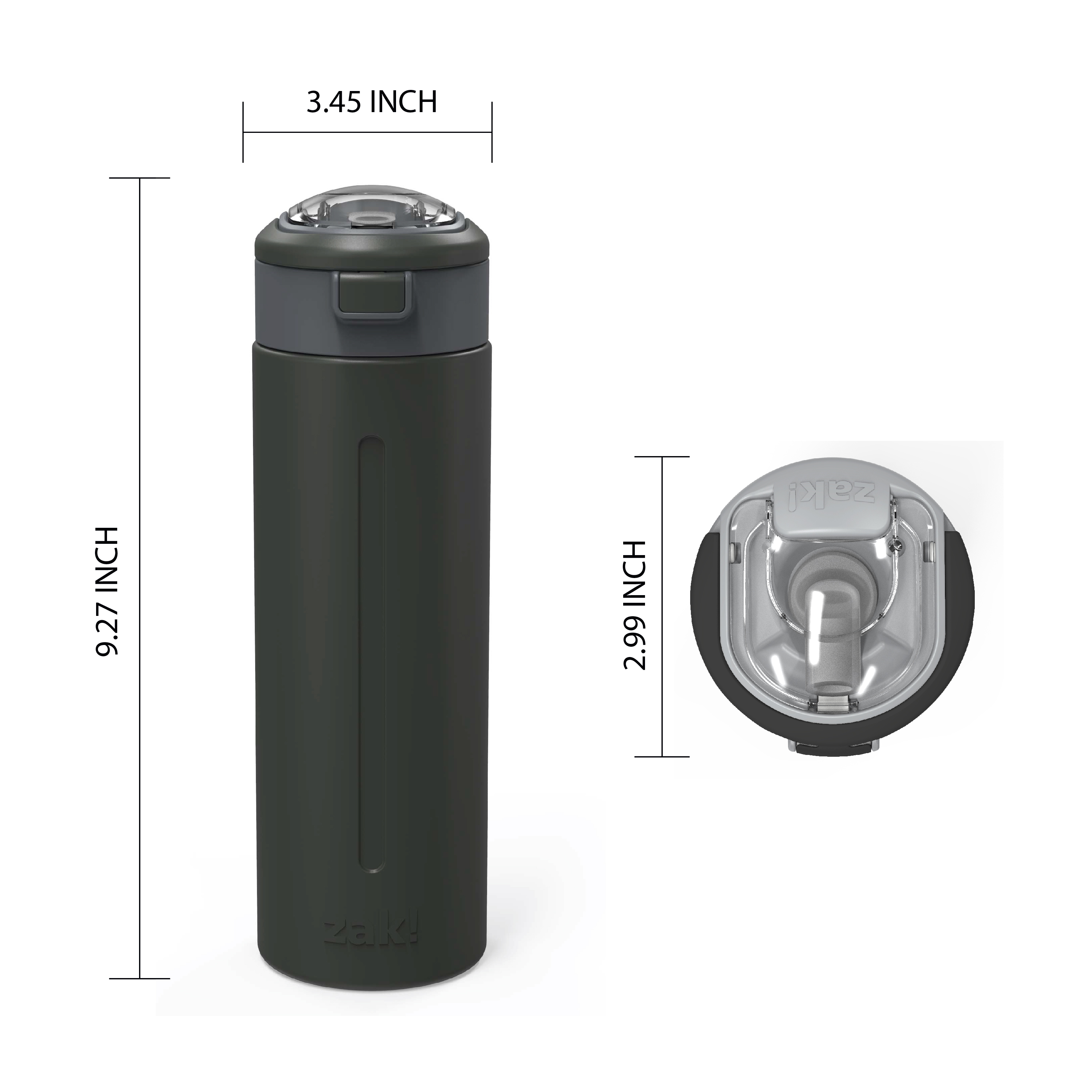Genesis Vaccum Insulated Stainless Steel Water Bottle, Charcoal slideshow image 6